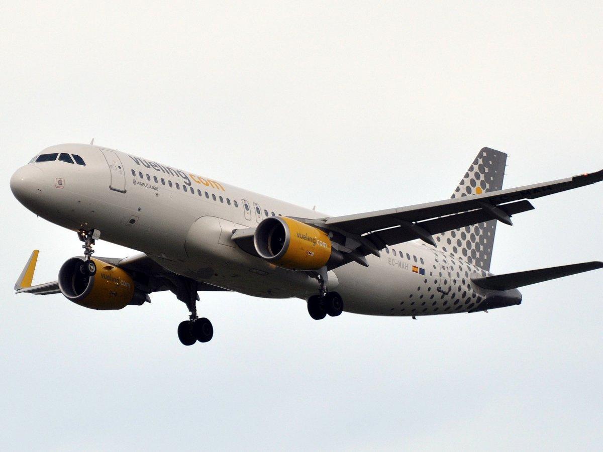 Avión de la compañia en vuelo