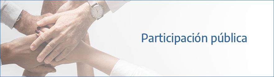 Imagen de cabecera del apartado Participación pública