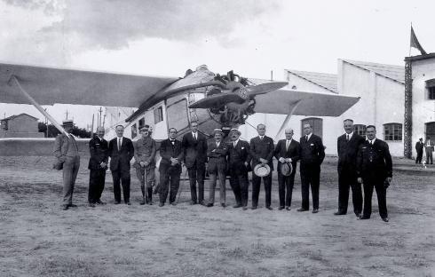 Foto de un Breguet construido por Construcciones Aeronauticas S.A.