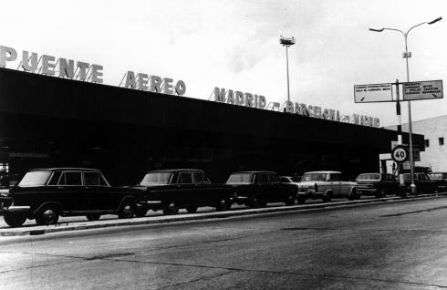 Foto de la puerta de llegadas, puente aéreo Madrid-Barcelona