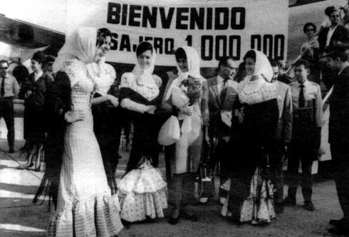Foto de la celebración pasajero un millón