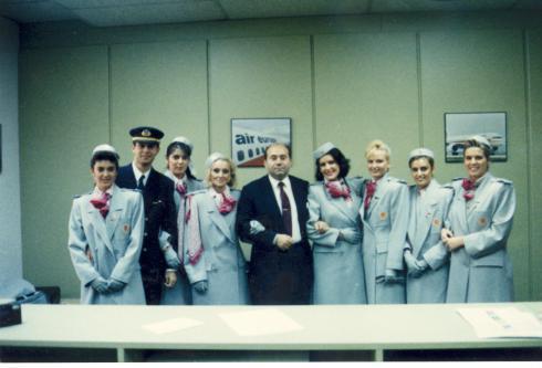 Tripulación del primer vuelo a Nueva York (año 1991)